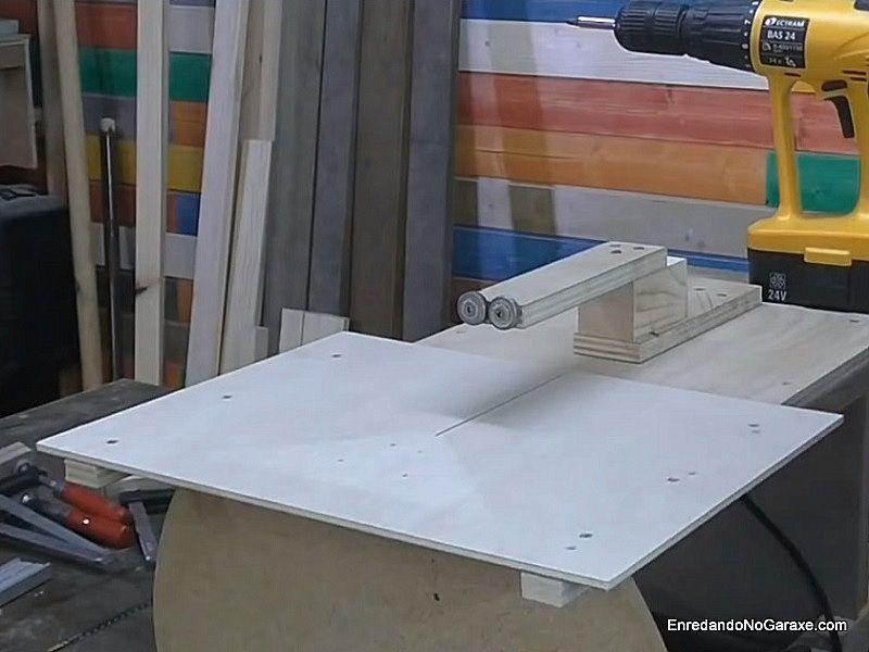 Base de marquetería del carro de escuadrar madera
