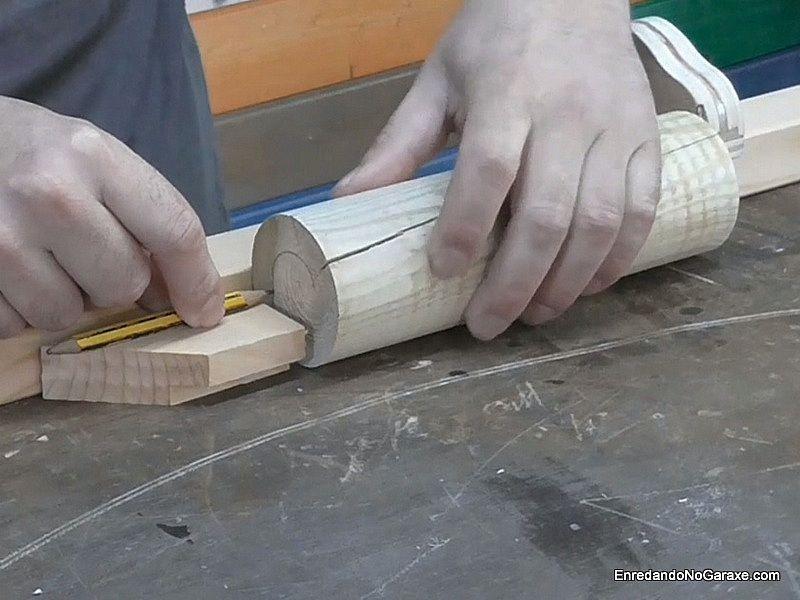 Girar el cilindro y dibujar un círculo con el lápiz