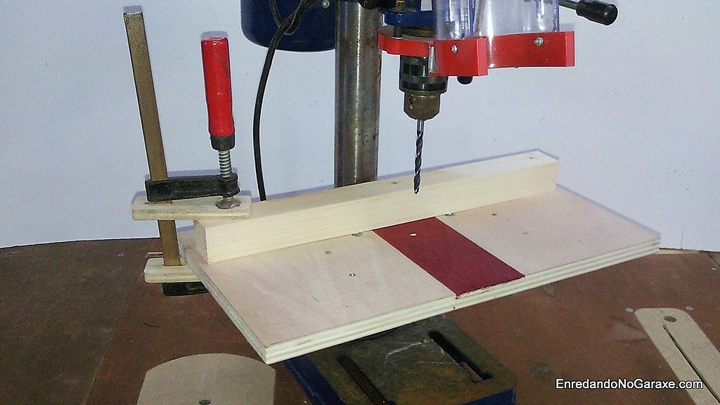 Table and guide for drilling with the drill press