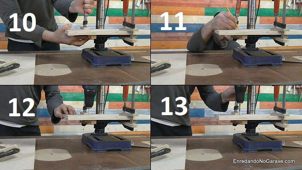 Cómo poner el segundo listón guía debajo de la mesa