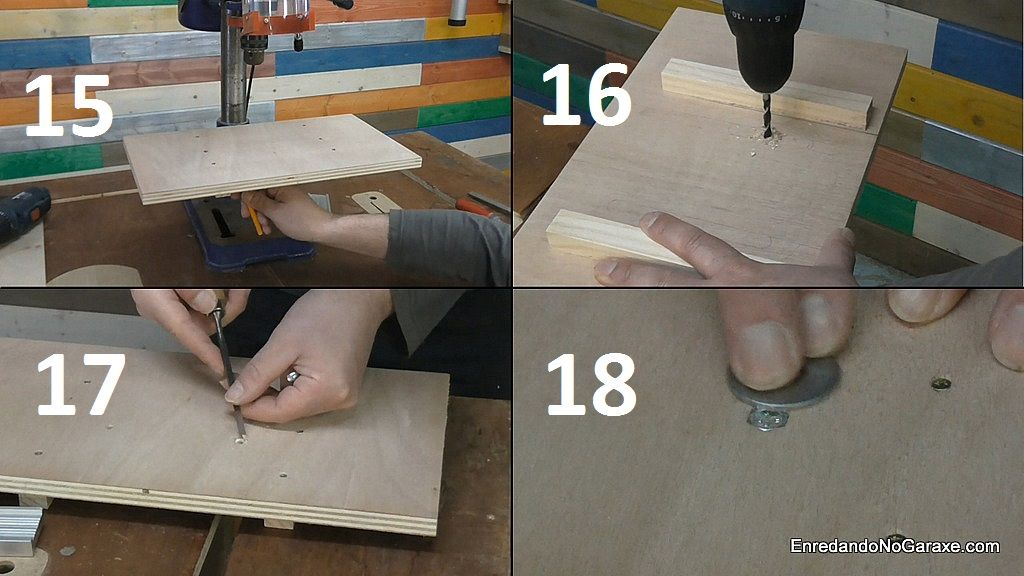 Cómo sujetar la mesa con pernos