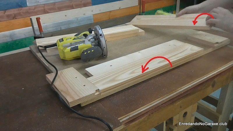 Cómo voltear las tablas y volver a fresar