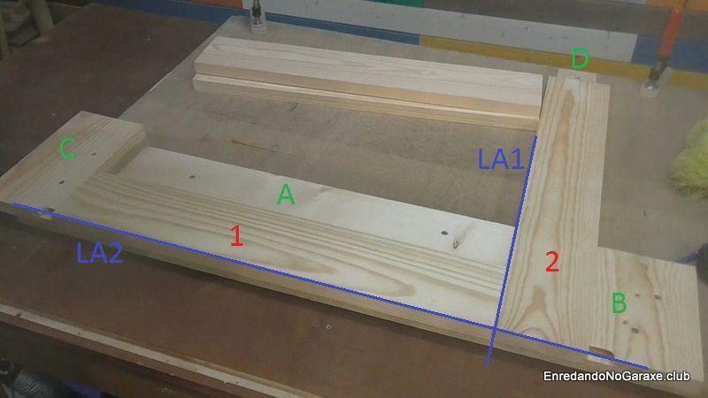 Plantilla guía para hacer machihembrado de madera