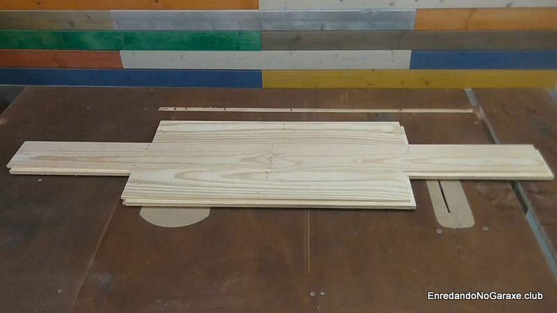 Suelo de machihembrado de madera