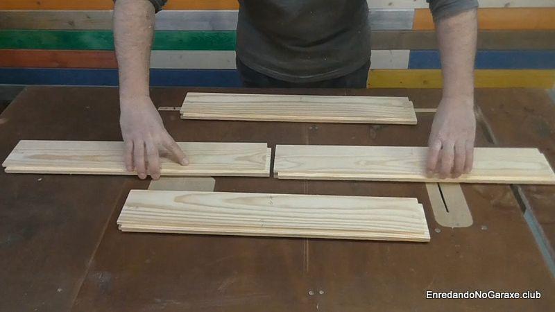 Suelo de tablas machihembradas sin unir