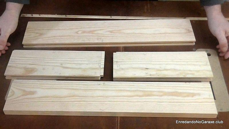 Resultado de hacer machihembrado de madera