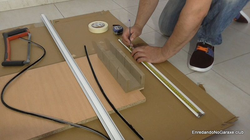 How to cut an aluminum profile at home