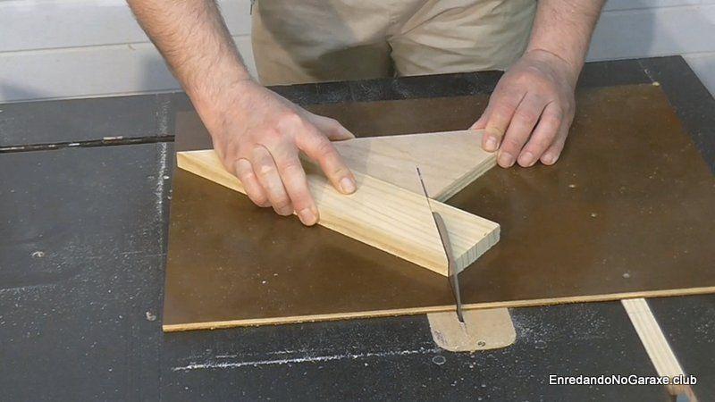 Prueba cortar a 45 grados en sierra de mesa