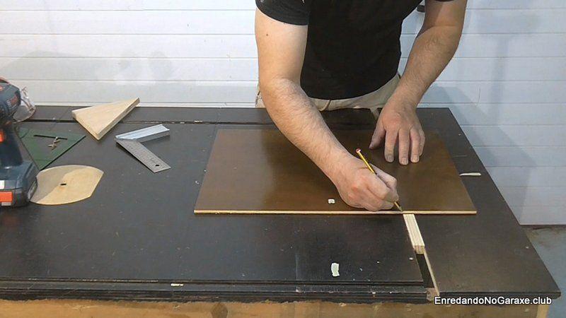 Marcar la posición en la que poner el listón guía