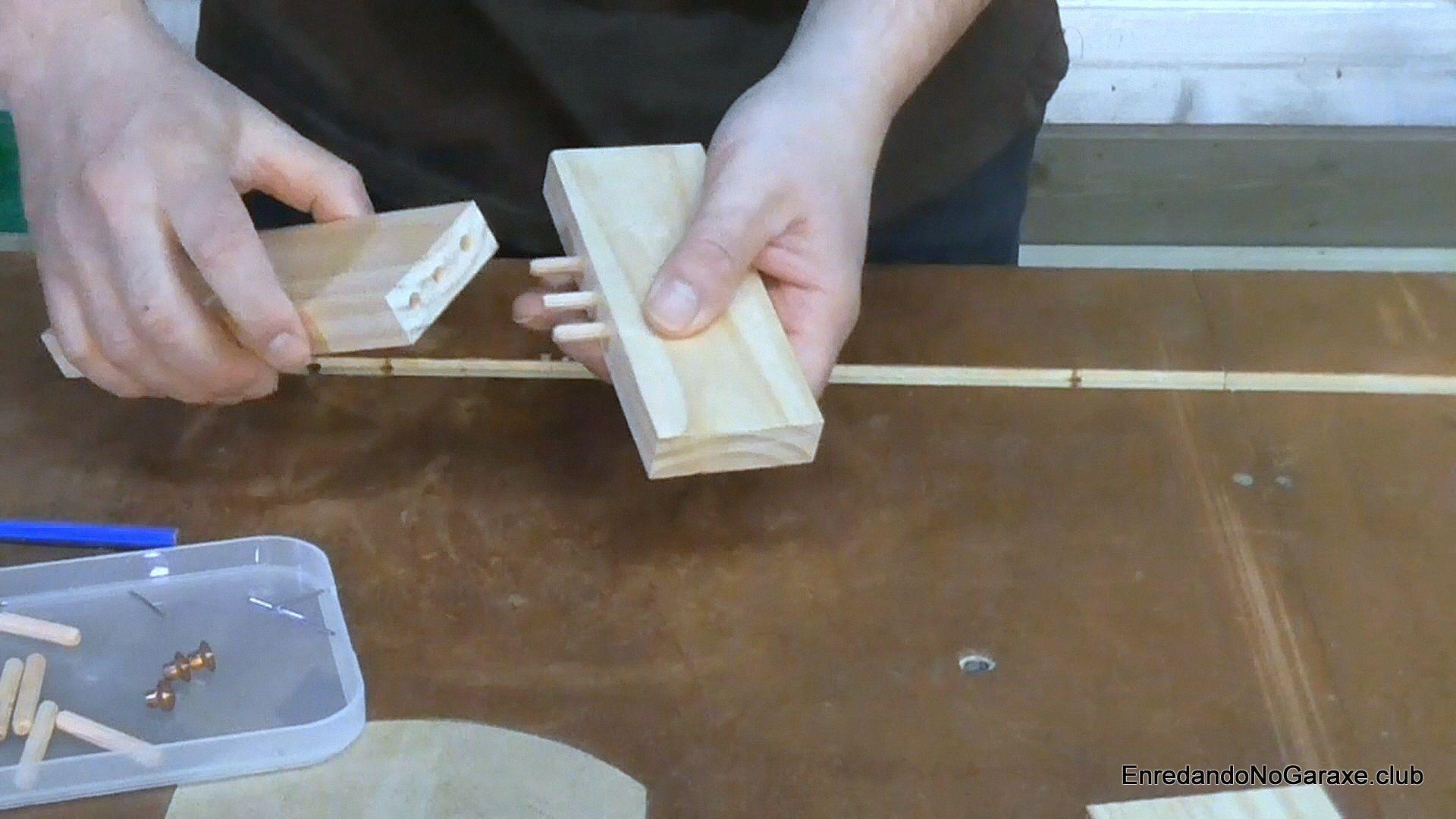 Uniones con tubillones en el taladro de columna