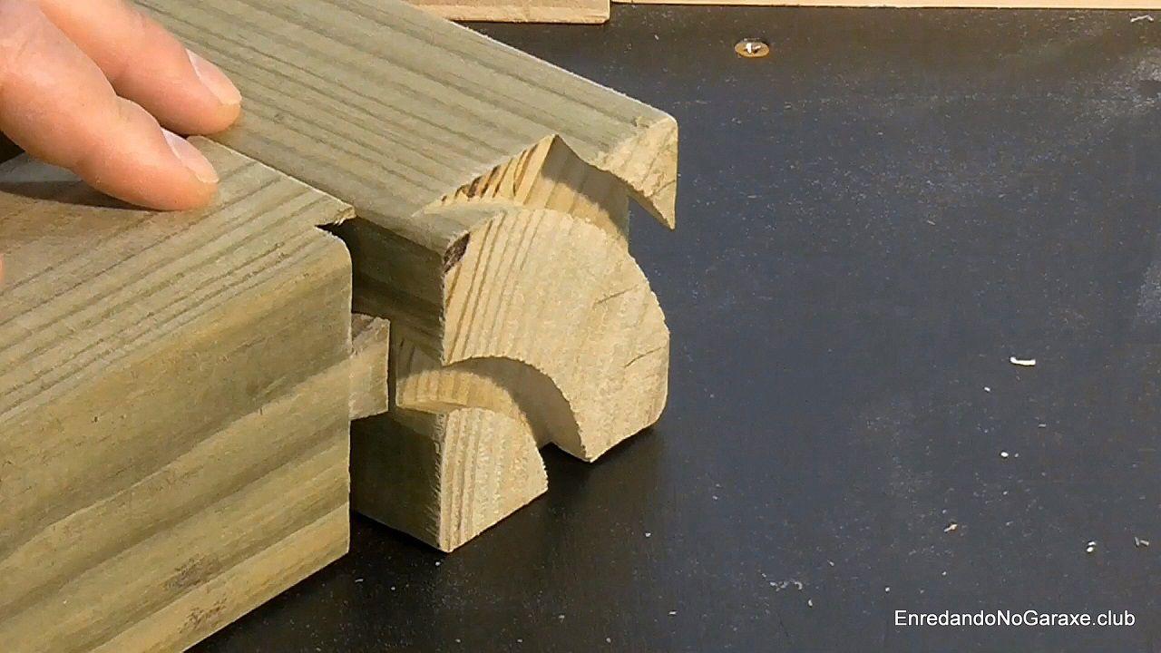 Ajustar las colas y las cajas de la unión