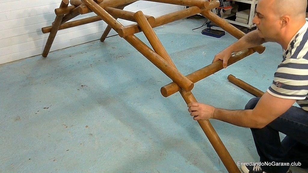 Cómo montar el puente autoportante de Da Vinci