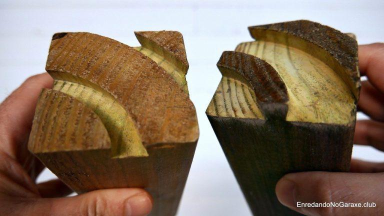 Colas y dientes de la unión de cola de milano