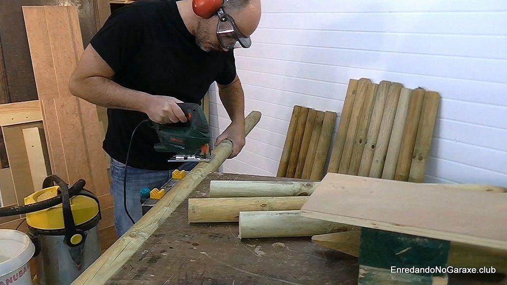 Cómo cortar los troncos de madera tratada