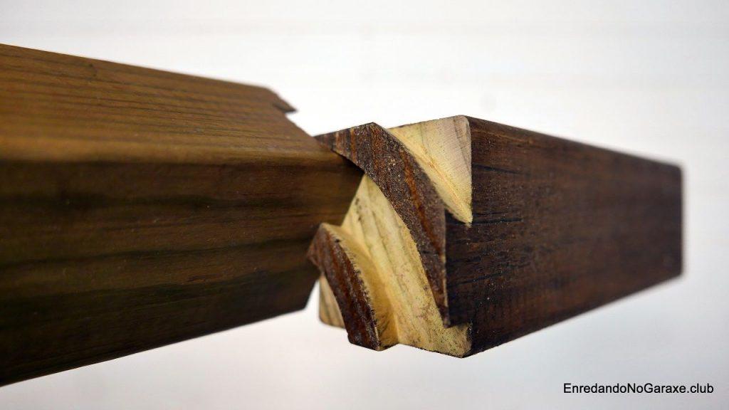 Hacer encajar la unión de cola de milano