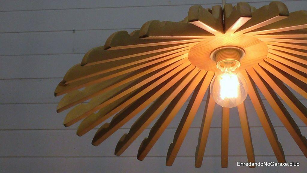 Hacer una lámpara de perchas