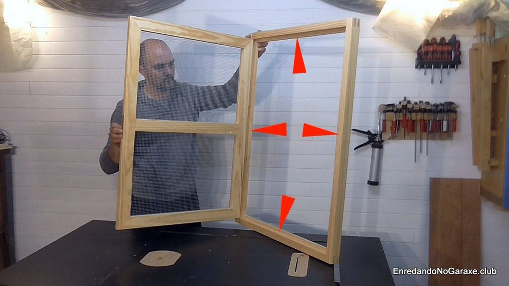 How to make wooden window frame