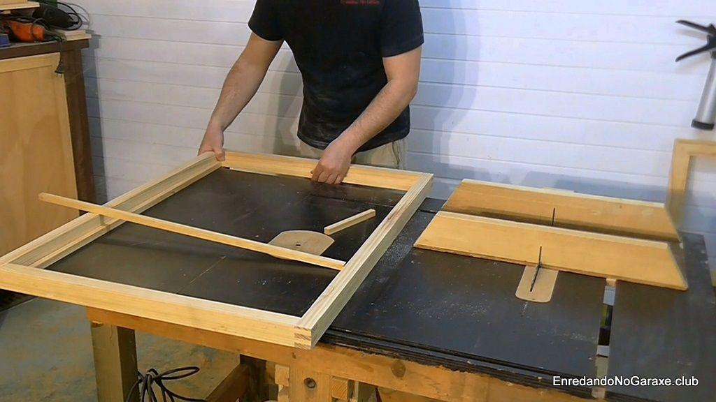 Cortar los junquillos para el interior del marco
