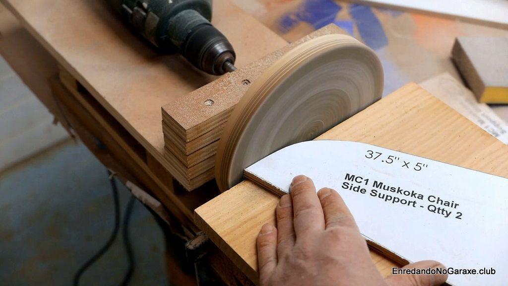 Ajustar las curvas convexas en lijadora de disco casera