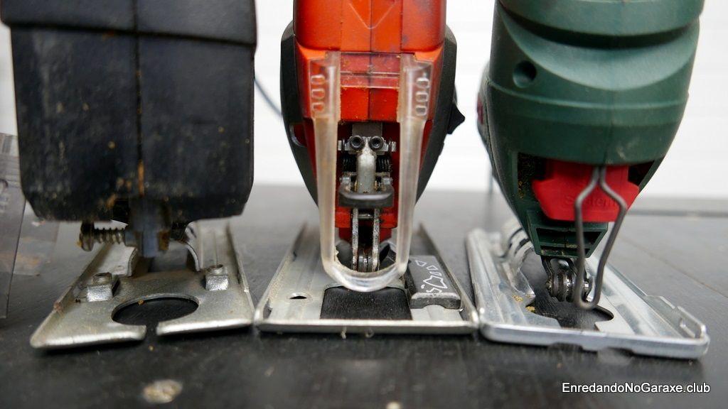 Sistema de anclar la hoja de corte de la sierra