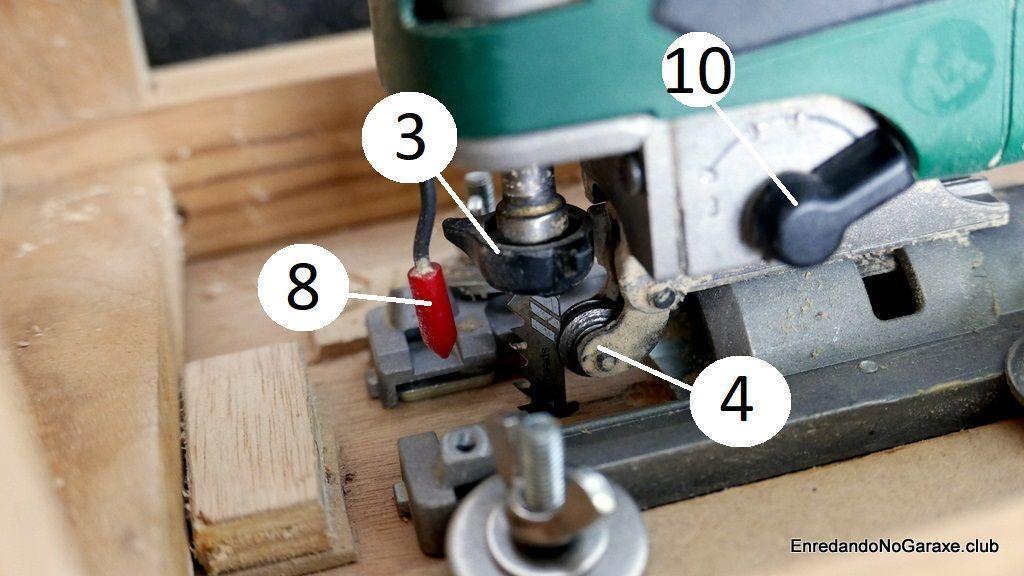 Sistema pendular de la sierra de vaivén