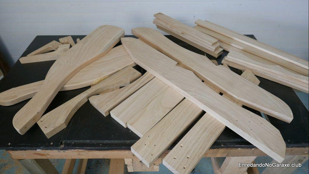 Cómo cortar y fresar las piezas de la silla Adirondack