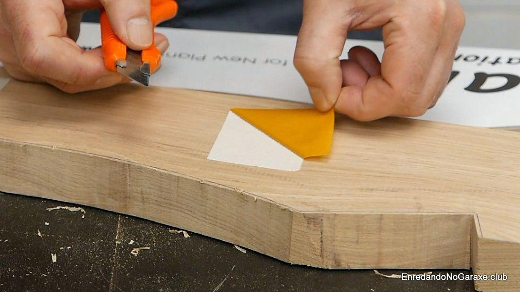 Cinta de doble cara para utilizar las plantillas de carpintería