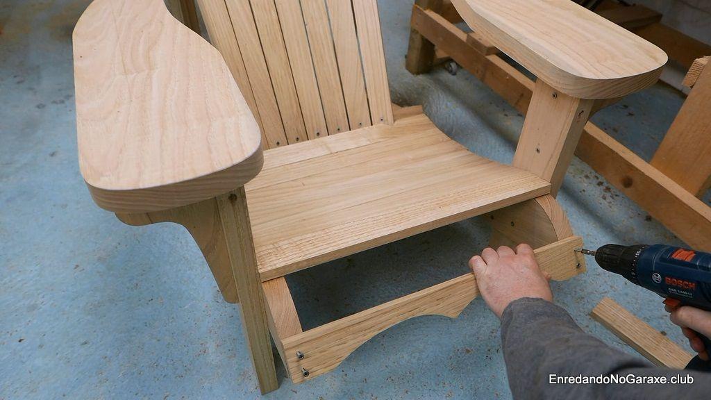 Frente del asiento de la silla de jardín