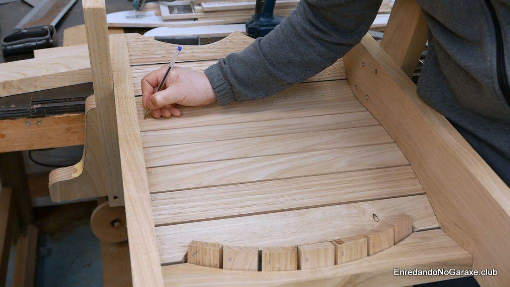 Numerar las tablas del asiento y del respaldo