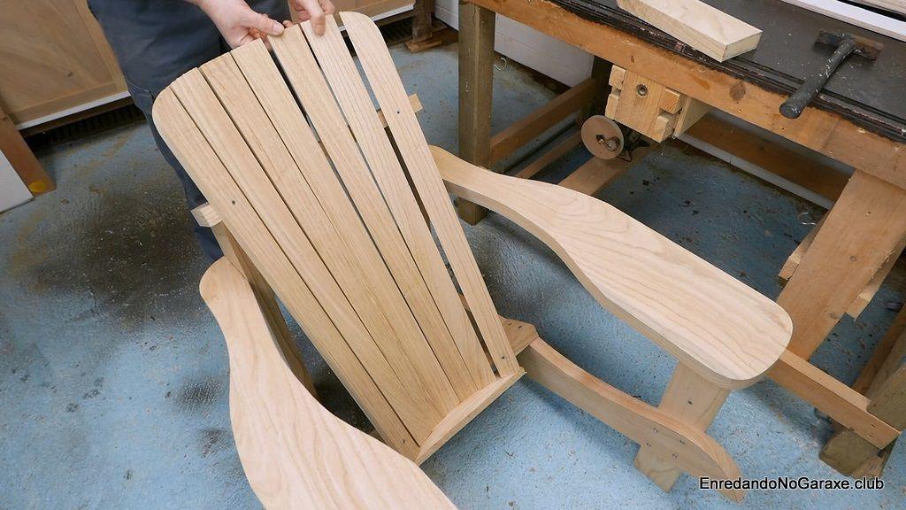 Poner todas las tablas del respaldo de la silla Adirondack