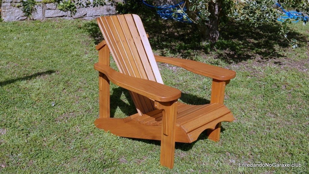 Silla de madera Adirondack