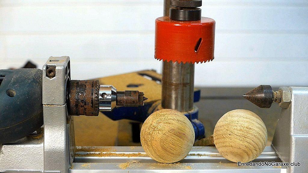 Cómo hacer bolas de madera