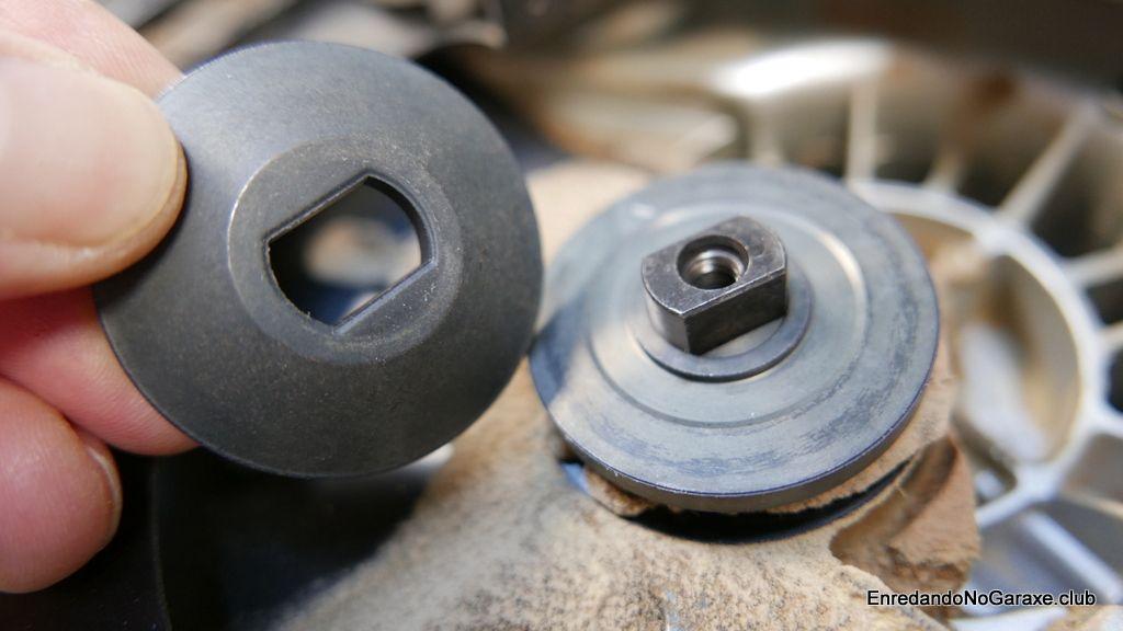 Arandelas para instalar el disco de corte de la sierra