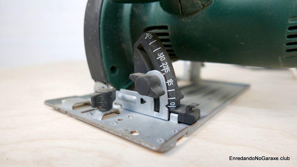Encala para ajustar la inclinación del disco de corte