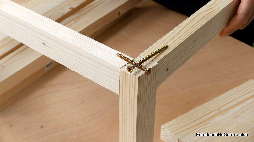 Cómo hacer las uniones con tornillos para madera