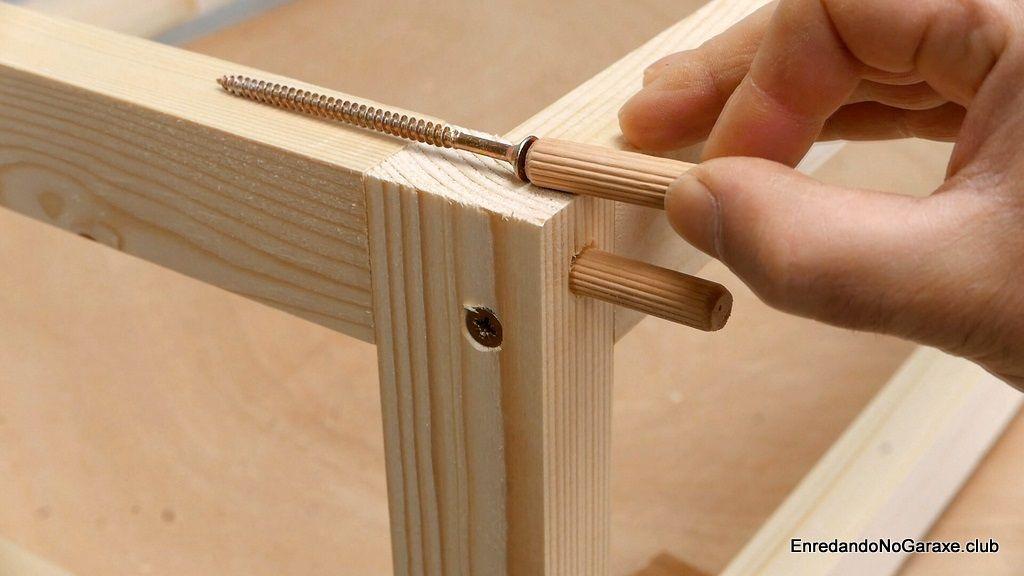 Cómo ocultar la cabeza de los tornillos para madera