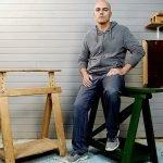 Caballete de madera para taller de carpintería