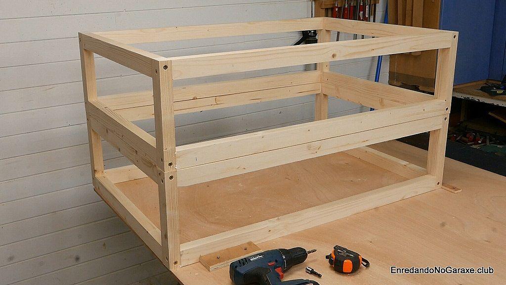 Cómo ensamblar con tornillos y hacer una estructura de madera