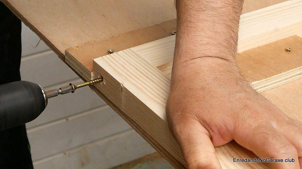 Hacer la unión de madera con tornillos