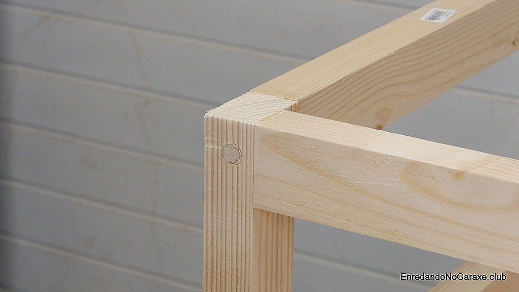 Ocultar la cabeza de los tornillos con tubillones para madera