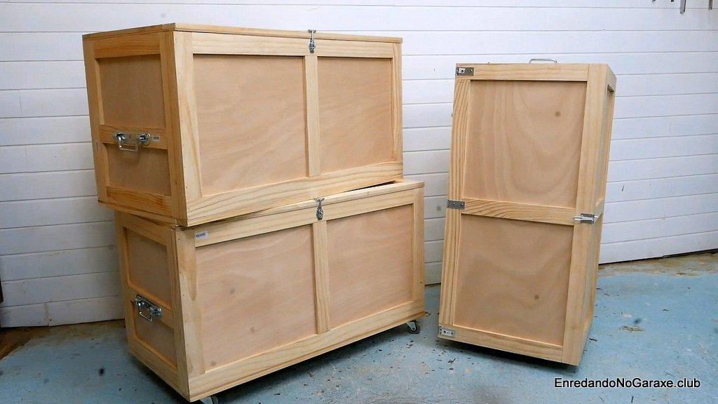 Baúl de madera de contrachapado