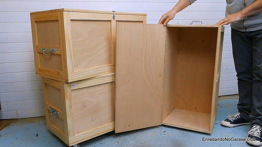 Cómo hacer un baúl de madera de contrachapado reforzada