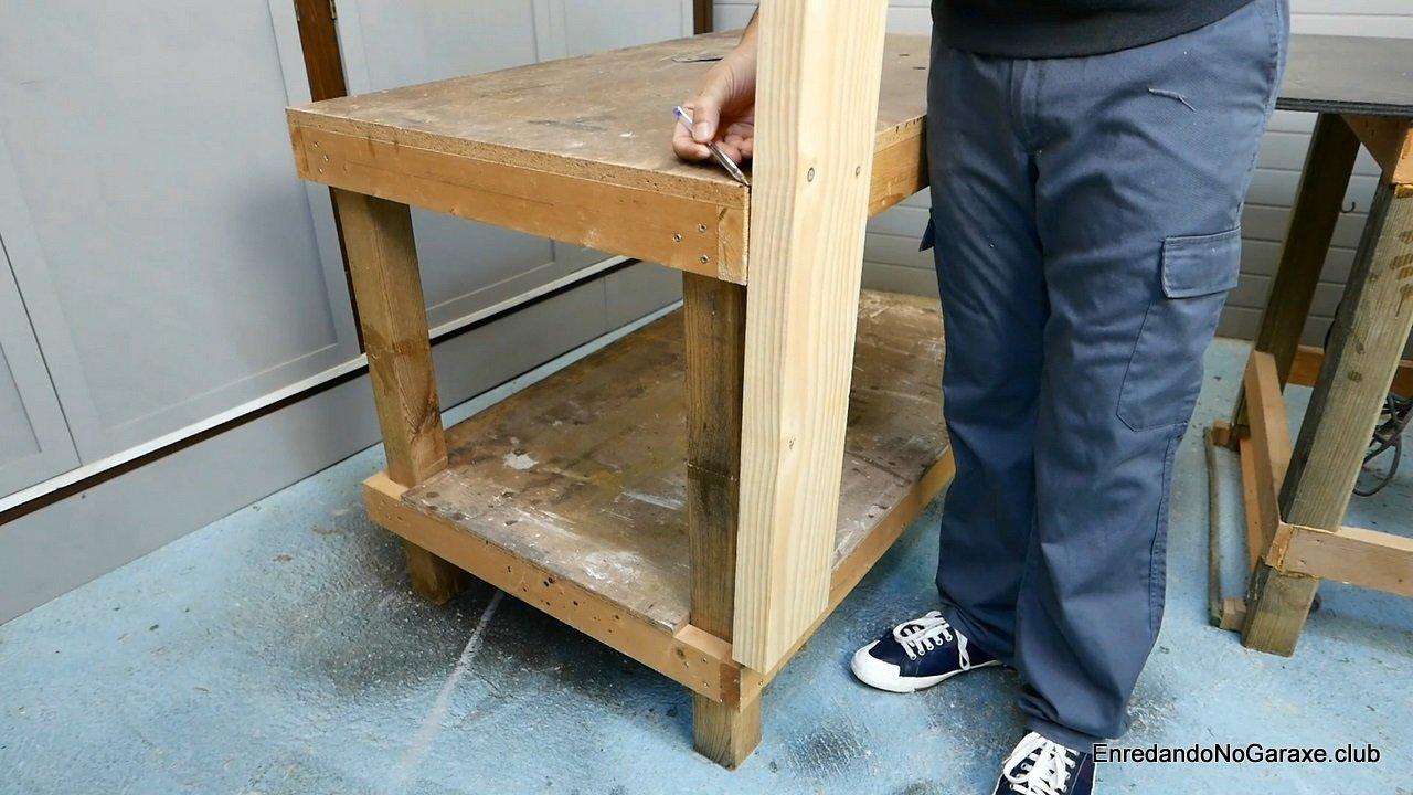 Medir la altura del tornillo frontal de apriete
