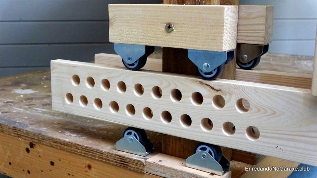 Guía ajustable del tornillo frontal de carpintería