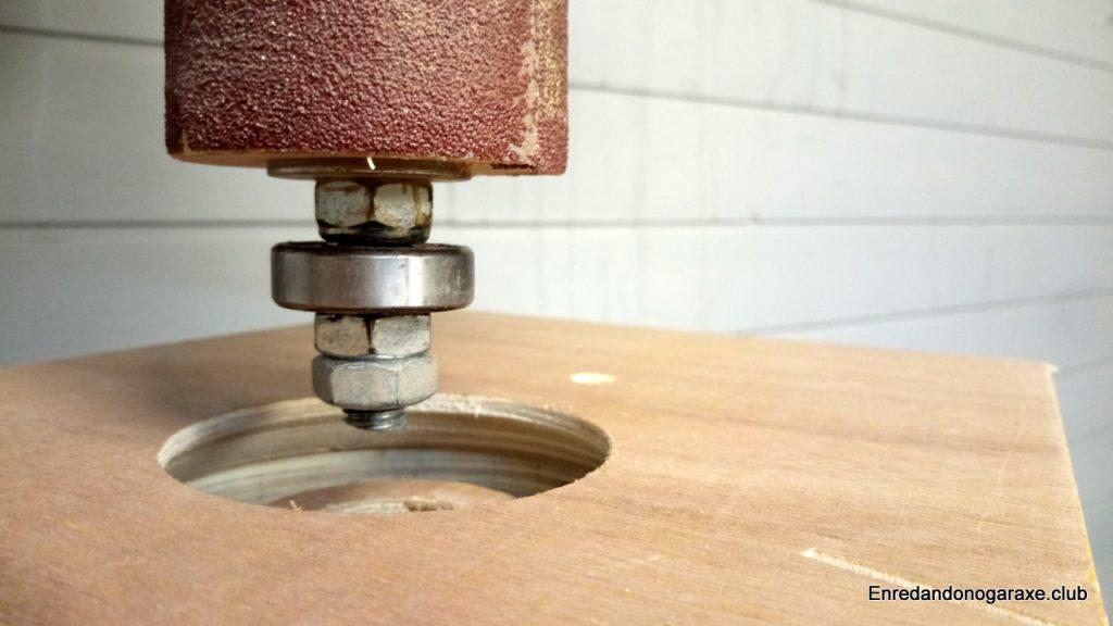 Forma del borde interior para aspirar el polvo de serrín