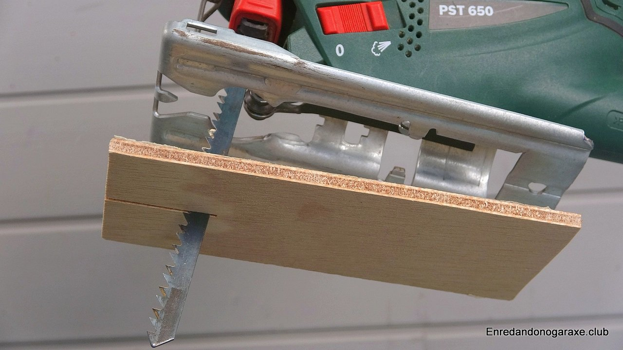 Base de madera para la sierra de calar