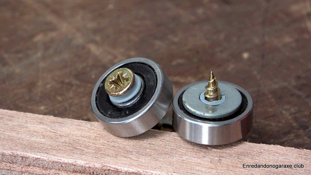 cómo poner rodamientos con tornillos