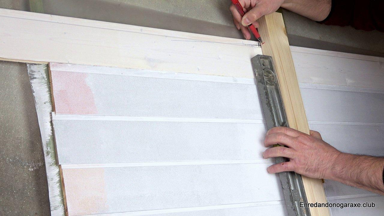 calcular la altura de la pared de madera