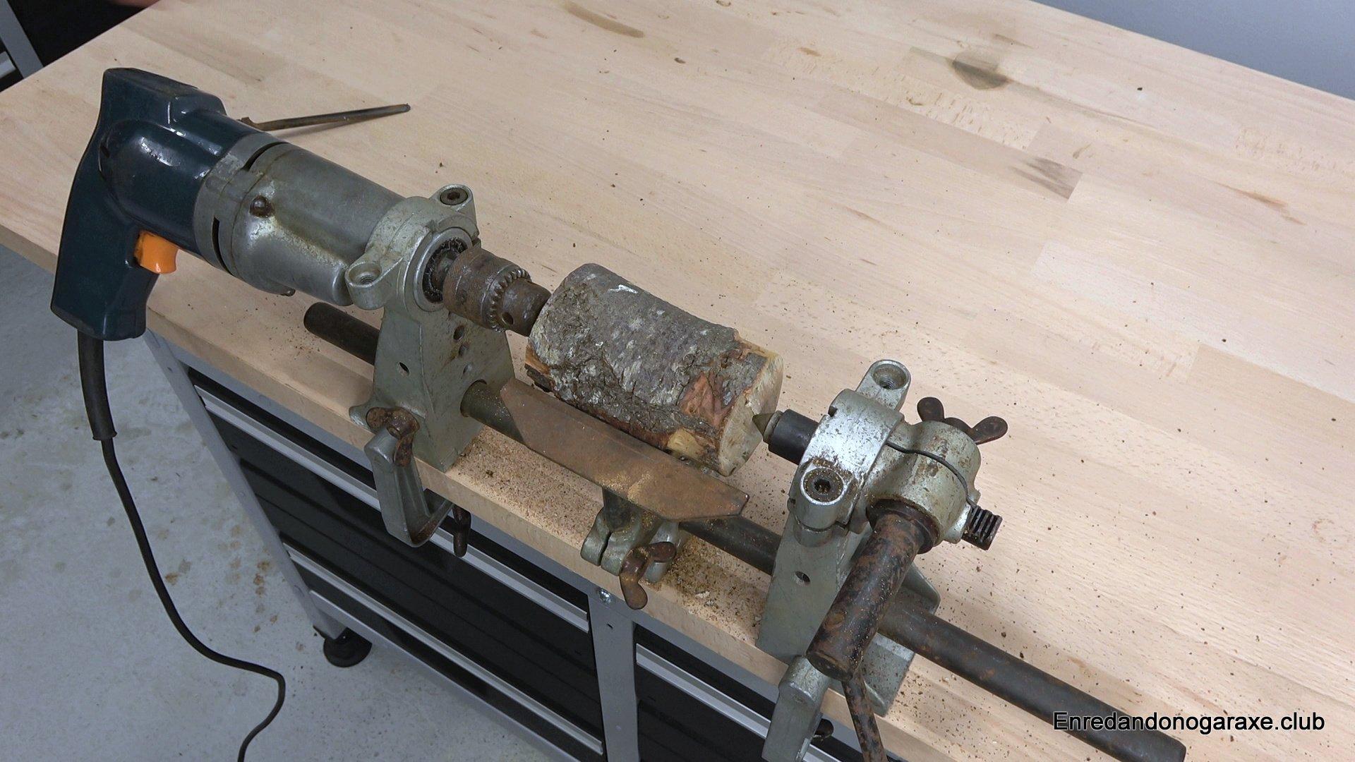 kit de torno para taladro