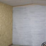 board and slat structure wood wall